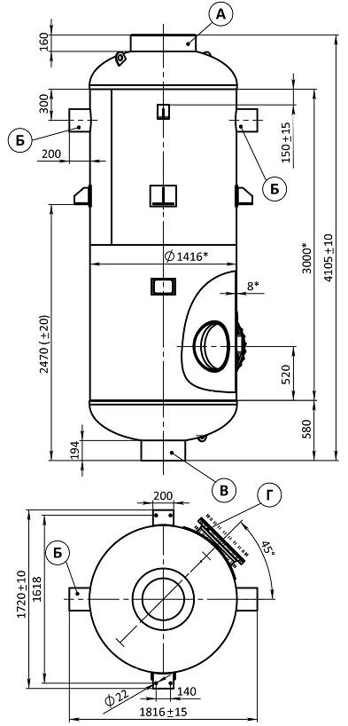 Сепаратор непрерывной продувки СП-5,5-1,4