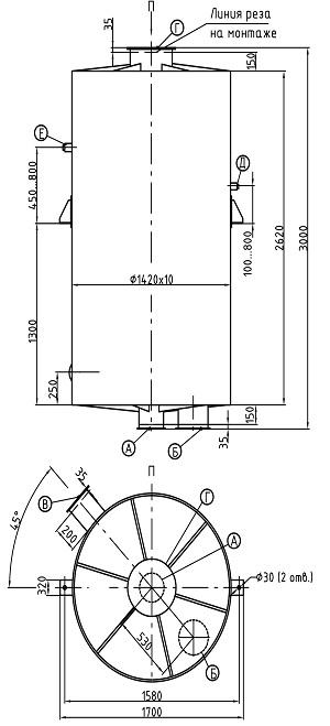 Деаэратор вакуумный ДВ150
